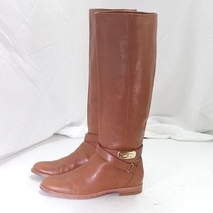 Coach Christine Tan Leather Boots